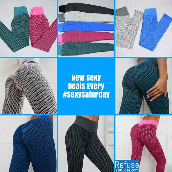 NORMOV Push Up Leggings For Women High Waist Fitness Leggings mujer Hollow Breathable Sportswear Ladies Polyester Skinny Yoga color: Blue Red Gray Black and Gray Green  Refuse You Lose