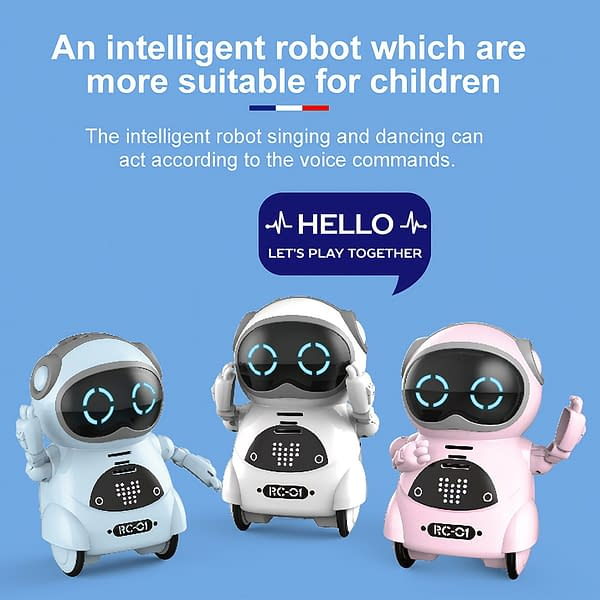 939A Pocket RC Robot Talking Interactive Dialogue Voice Recognition Record Singing Dancing Telling Story Mini RC Robot Toys Gift 2020 New Deals 🎉 Best Gifts of 2020 🎁 Best Gifts of 2020 For Babies Best Gifts of 2020 For Boys 🙍🏻♂️ Best Gifts of 2020 For Girls 👸🏻 Toys 🎮🚂 Deals For Kids & Babies 👶🏻👧🏻🧒🏻 Best 2019 Deals Clearance 🚨 color: Blue|Pink|White  Refuse You Lose https://refuseyoulose.com