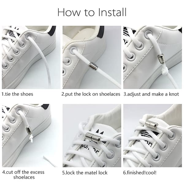 Elastic No Tie Shoelaces Semicircle Shoe Laces For Kids and Adult Sneakers Shoelace Quick Lazy Metal Lock Laces Shoe Strings color: all black all brown all green all navy blue all orange all pink all purple all red only 1 pair locks only 1 pair locks only 1 pair locks Black Deep Blue Red Gray Khaki Light Pink Rose Red White Yellow BROWN Green Light Blue Light Purple Navy Blue Orange  Refuse You Lose