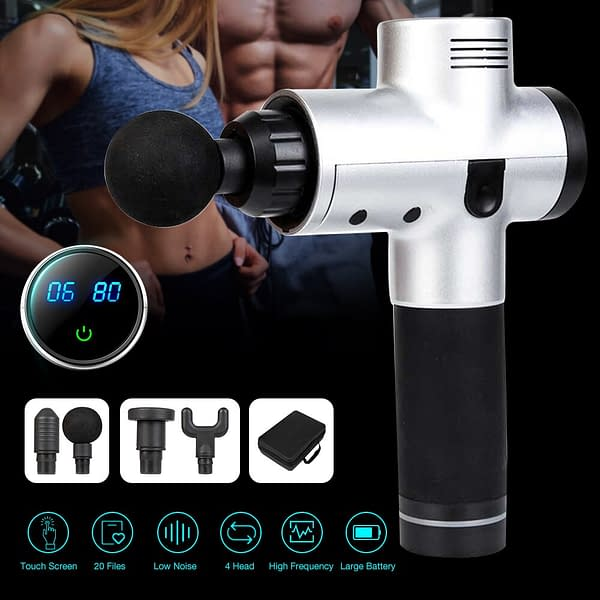 High-Frequency Portable Massage Gun color: S1 Black|S1 S2 battery|S1 Silver|S2 Black|S2 Silver  Refuse You Lose