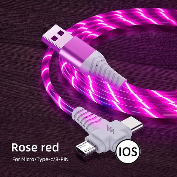 3 In 1 LED USB Charger color: Blue|Red|Multi|Green  Refuse You Lose