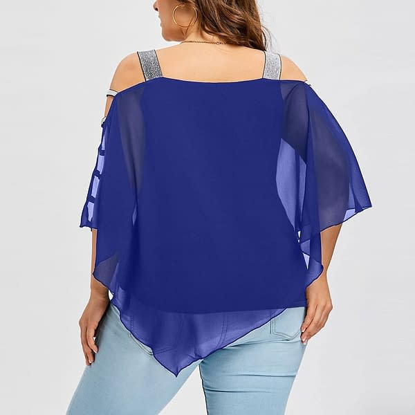 Beautiful Loose Blouse For Women color: Blue Red Pink Purple  Refuse You Lose