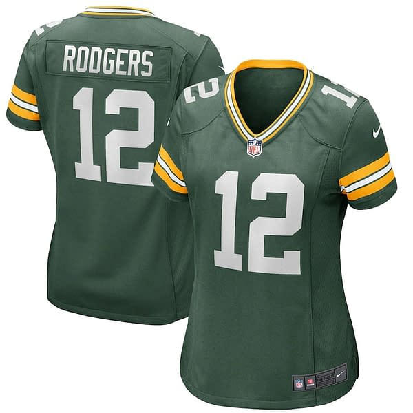 Aaron Rodgers Green Bay Packers Home NFL Football Jersey