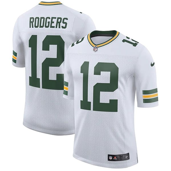 Aaron Rodgers Green Bay Packers Road NFL Football Jersey
