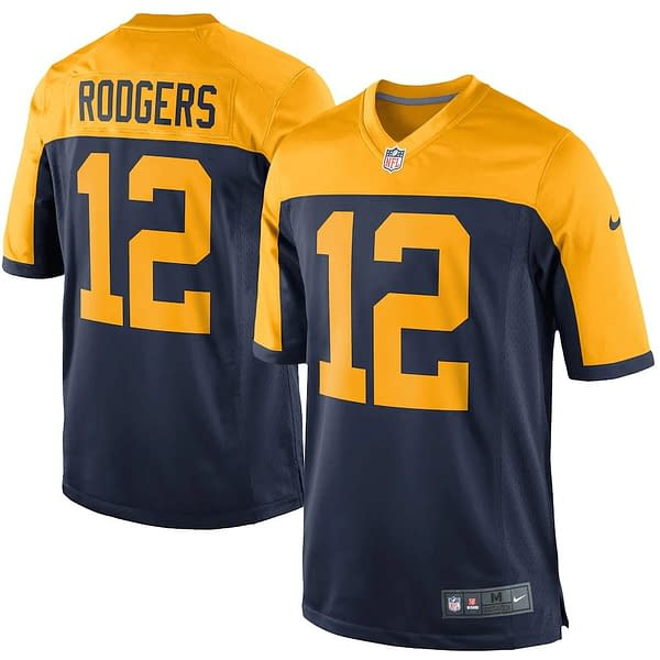Aaron Rodgers Green Bay Packers Alternate NFL Football Jersey