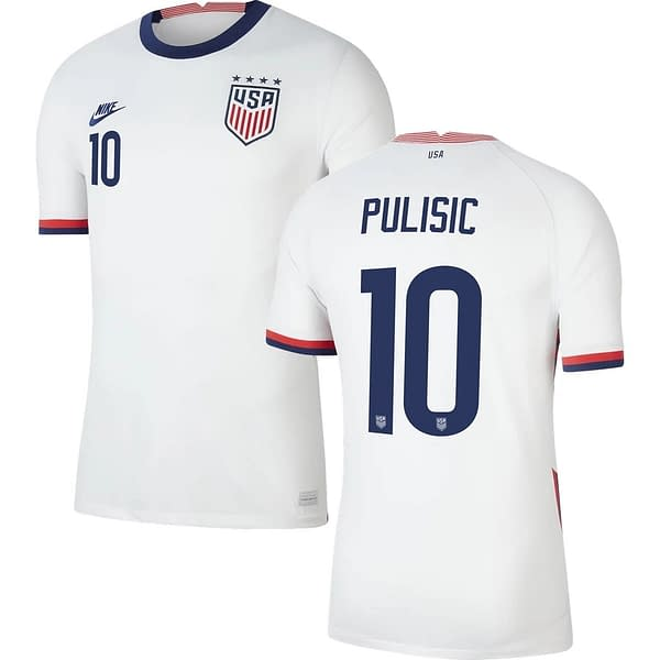 Christian Pulisic USA 2020-2021 Home Soccer Jersey