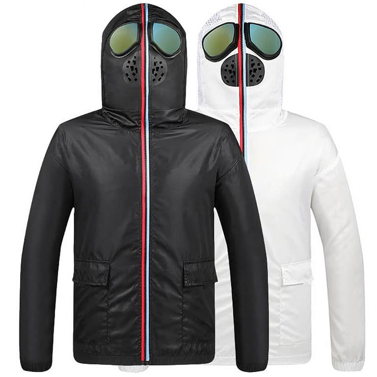 Dr. Kill Pain Anti Coronavirus Isolation Jacket with Face Mask and Glasses color: Black|White New Arrivals 2020 Fight Coronavirus Protective Jackets Best Sellers https://drkillpain.com