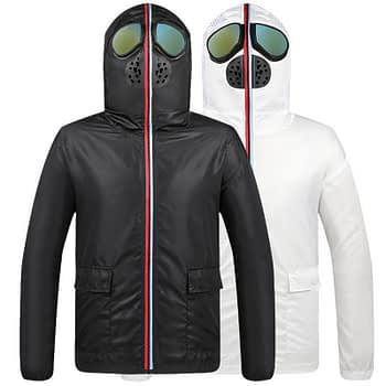 Anti Coronavirus Isolation Jacket with Face Mask and Glasses New Arrivals 2020 Fight Coronavirus Protective Jackets Best Sellers color: Black|White