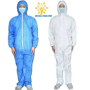 Anti Coronavirus Disposable Coverall Protective Suit PPE Suits New Arrivals 2020 Fight Coronavirus color: Blue|White