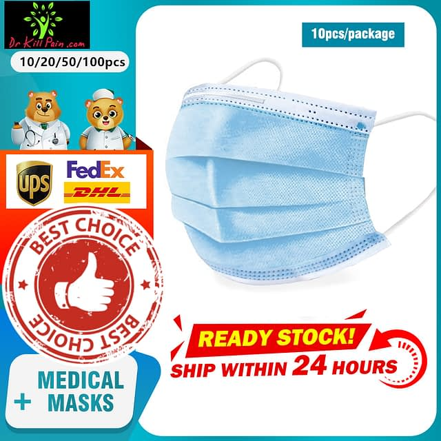 3-Layer Filter Disposable Face Masks (10 to 1000 pcs) New Arrivals 2020 Fight Coronavirus Face Masks Best Sellers 694e8d1f2ee056f98ee488: 10 pcs|20 pcs|50 pcs|100 pcs|250 pcs|500 pcs|1000 pcs