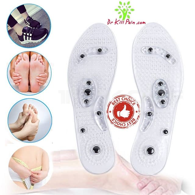 Magnetic Massage and Weight Loss Insoles New Arrivals 2020 Best Sellers Foot Pain Relief Weight Loss Remedies color: White