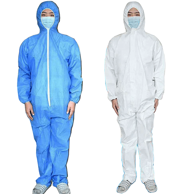DISPOSABLE-COVERALL-SAFETY-CLOTHING-SURGICAL-MEDICAL-PROTECTIVE-OVERALL-SUIT New Arrivals 2020 Fight Coronavirus color: Sky Blue|White