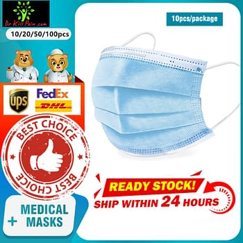 3-Layer Disposable Face Masks 694e8d1f2ee056f98ee488: 10 pcs|20 pcs|50 pcs|100 pcs|250 pcs|500 pcs|1000 pcs  New Arrivals 2020 Fight Coronavirus Face Masks Best Sellers