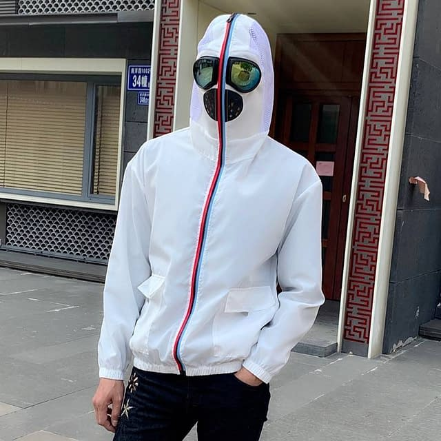 Fight Coronavirus Jacket with Mask | Unisex color: Black|White  New Arrivals 2020 Fight Coronavirus Protective Jackets Best Sellers