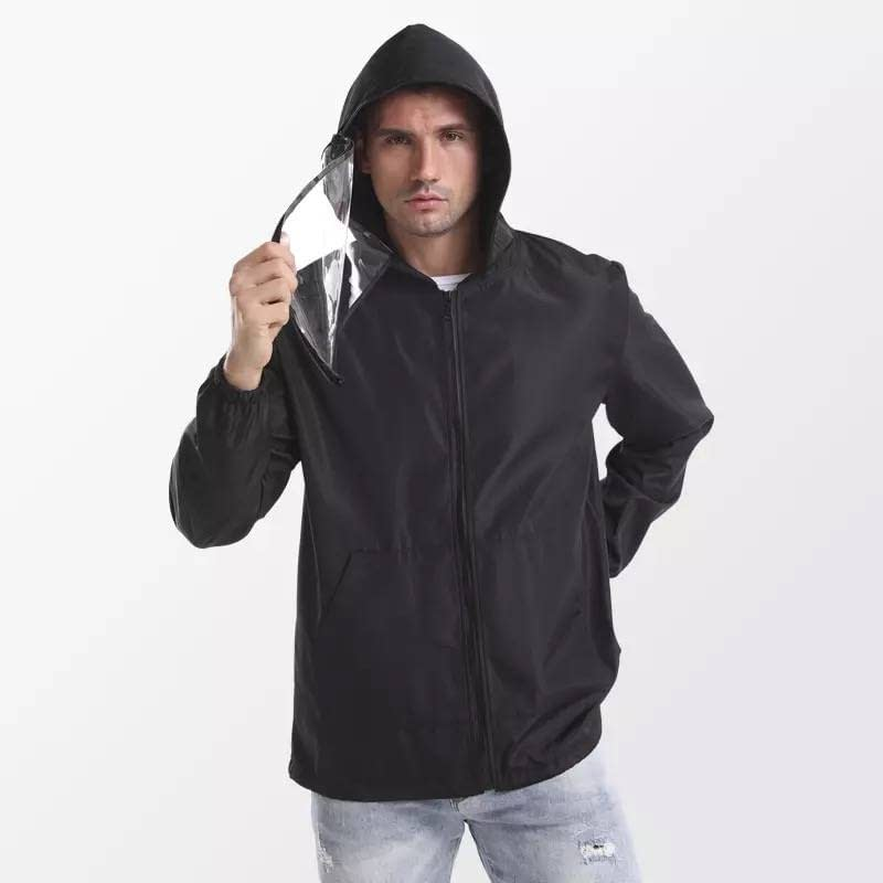 Fight Coronavirus Jacket With Face Mask | Unisex color: Black|Blue|White|Yellow New Arrivals 2020 Fight Coronavirus Protective Jackets Best Sellers