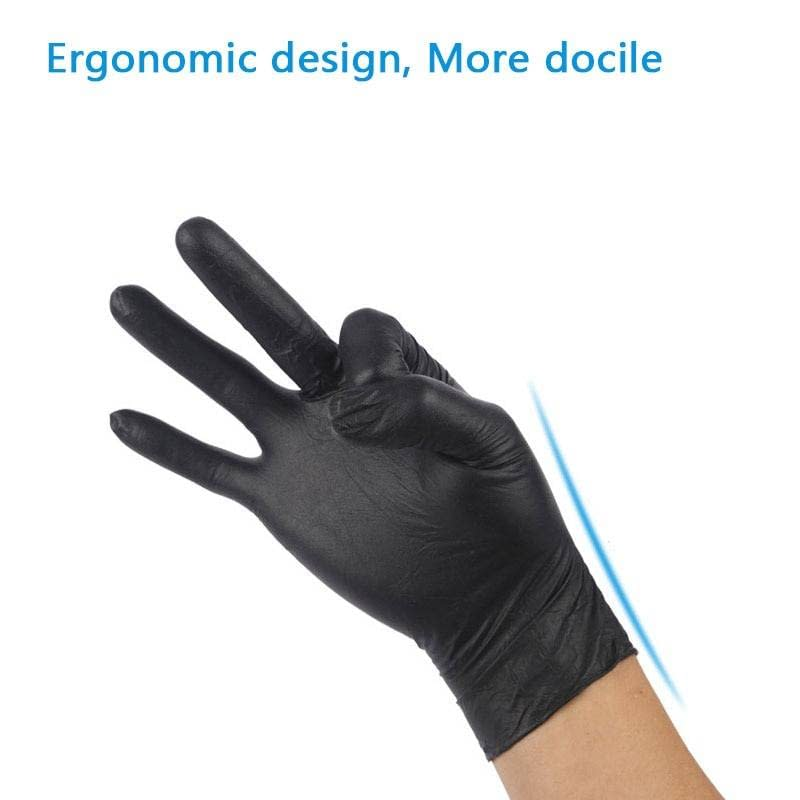 100 Pcs/Box of Black, Blue, or Transparent Disposable Gloves