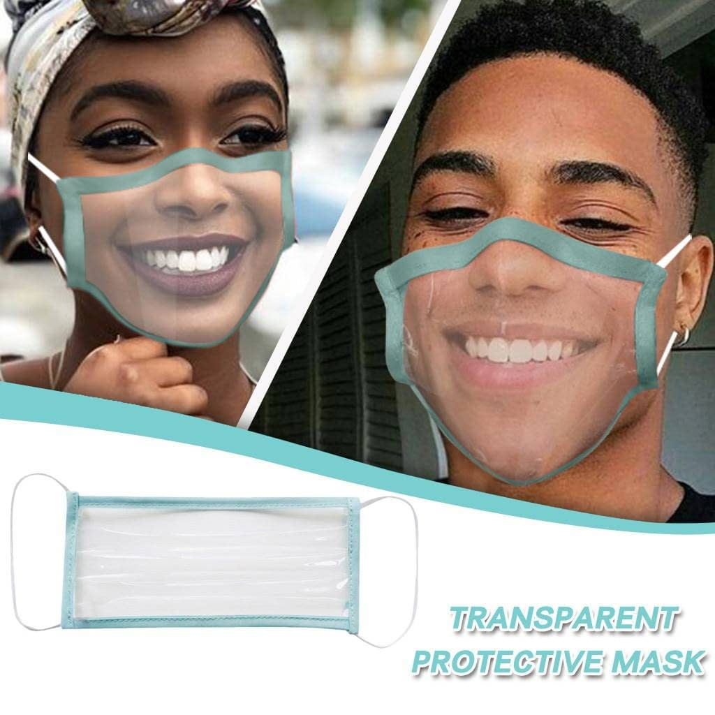 Reusable With Clear Window Unisex Adult Breathable Reuse Anime Funny Transparent expression masks Cosplay Costume Accessories