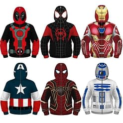 Fight Coronavirus Superhero Jacket with Mask For Kids color: Black / Gray|Black / Red|Black / White|Navy|Red|Red / Black|Red / Blue|Red / Yellow|Wine Red|Black|Blue|Green|White  New Arrivals 2020 Fight Coronavirus Protective Jackets Best Sellers
