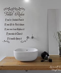 https://ineedaclean.com Toilet Rules Wall Stickers New Arrivals Bathroom Shop cb5feb1b7314637725a2e7: Black|Blue|Brown|chocolate|dark blue|gold|green|grey|light blue|light green|light grey|light purple|mint|nude|Purple|Red|Silver|soft pink|Yellow|Orange|Pink|white  I Need A Clean https://ineedaclean.com/the-clean-store/toilet-rules-wall-sticker/