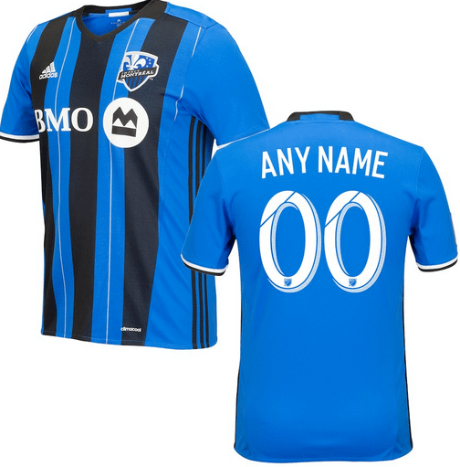 sports shoes aac8d 33e03 Montreal Impact MLS Soccer Jersey for Men, Women, or Youth - Custom Name  and Number