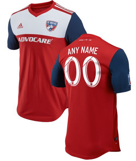 sale retailer 0af5d 8a162 FC Dallas MLS Soccer Jersey for Men, Women, or Youth - Custom Name and  Number
