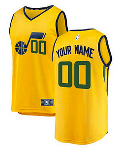 hot sale online 63de5 2063e Custom Utah Jazz NBA Basketball Jersey For Men, Women, or Youth (Any Name  and Number)