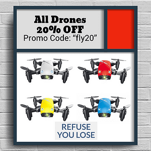 "All Drones & Flying Gadgets 20% Off with coupon ""FLY20"""