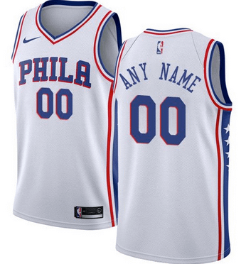 new concept ec59b 09b49 Custom Philadelphia 76ers NBA Basketball Jersey For Men, Women, or Youth  (Any Name and Number)