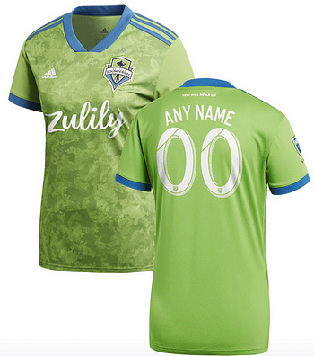 newest 85c1a c228c Seattle Sounders FC MLS Soccer Jersey for Men, Women, or Youth - Custom  Name and Number