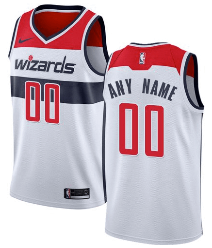 sale retailer af951 f68eb Custom Washington Wizards NBA Basketball Jersey For Men, Women, or Youth  (Any name and Number)